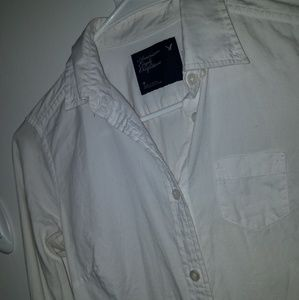 American Eagle Long Sleeve White Shirt 0